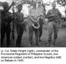 Eddie Wright and Negrito guerrillas